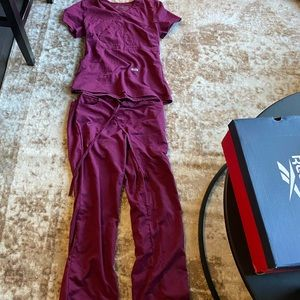 Burgundy Greys Anatomy scrub set